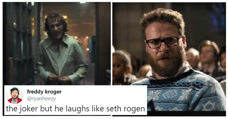 People have been adding famous laughs to a Joker clip and it's disturbingly funny