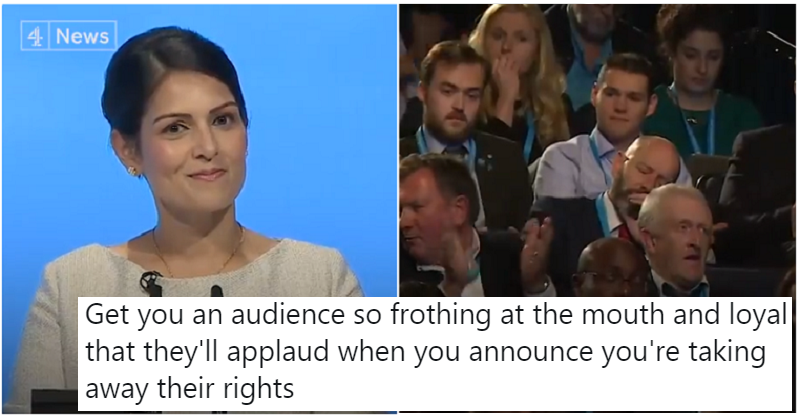 Priti Patel's anti-free movement speech whipped the Tories into a frenzy – the only 9 reactions you need