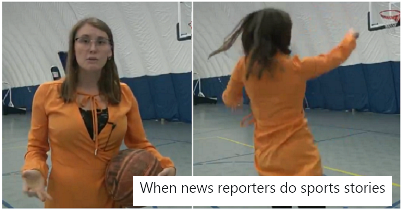This reporter couldn't quite nail that killer end for her piece to camera