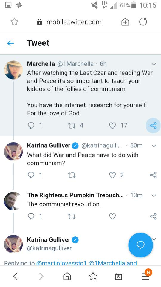 This mansplainer was schooled on his Russian history and it just gets better and better