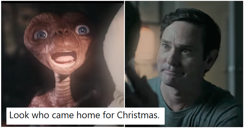 A Christmas advert reuniting E.T. and Elliott is giving people feelings