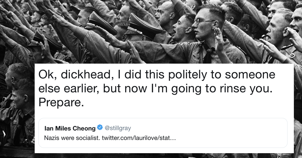 This teacher's takedown of the guy who said 'Nazis were socialists' is an all-time classic of the genre