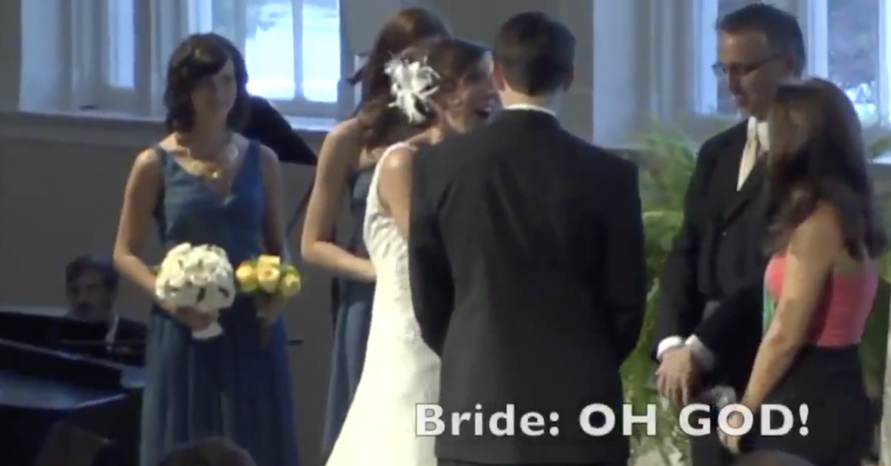 This bride over-shared at the altar not knowing the groom was wearing a microphone and it's brilliant