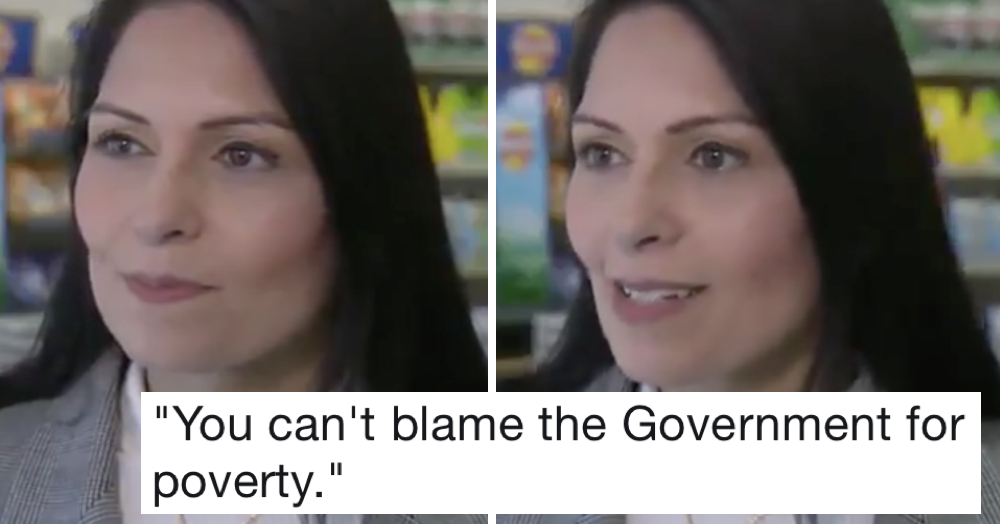 Priti Patel said you can't blame the government for poverty – only 5 replies you need