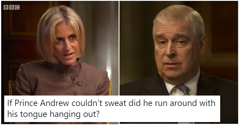 The internet couldn't stop talking about Prince Andrew's sweat – the only 6 comments you need to read