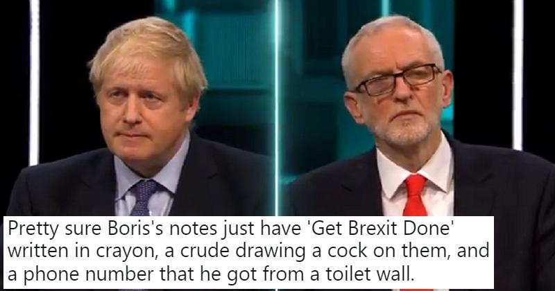Boris Johnson and Jeremy Corbyn had a live election debate – 17 spoiled ballots