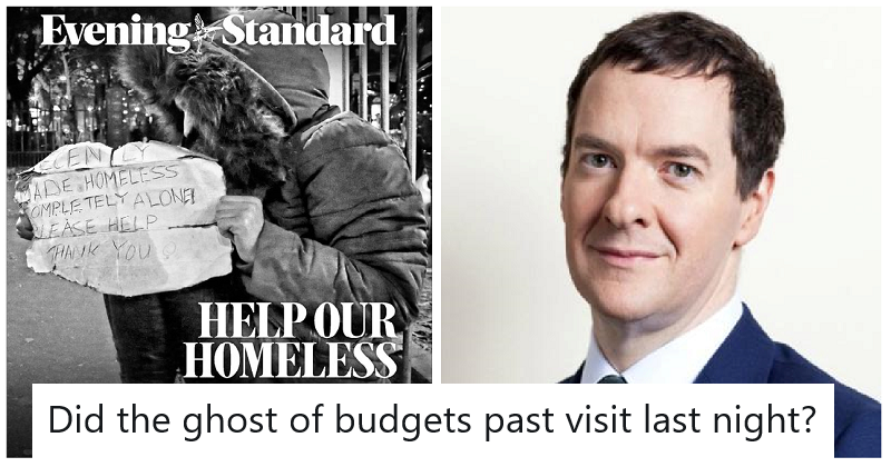 Our 9 favourite reactions to the irony of George Osborne's homelessness campaign