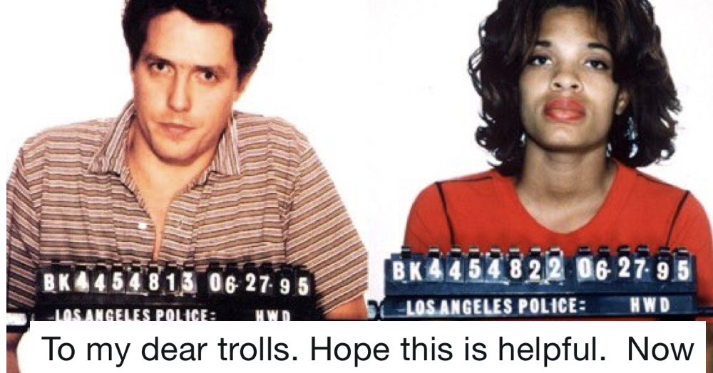 Hugh Grant just owned the haters who have been trolling him on Twitter and it's perfect