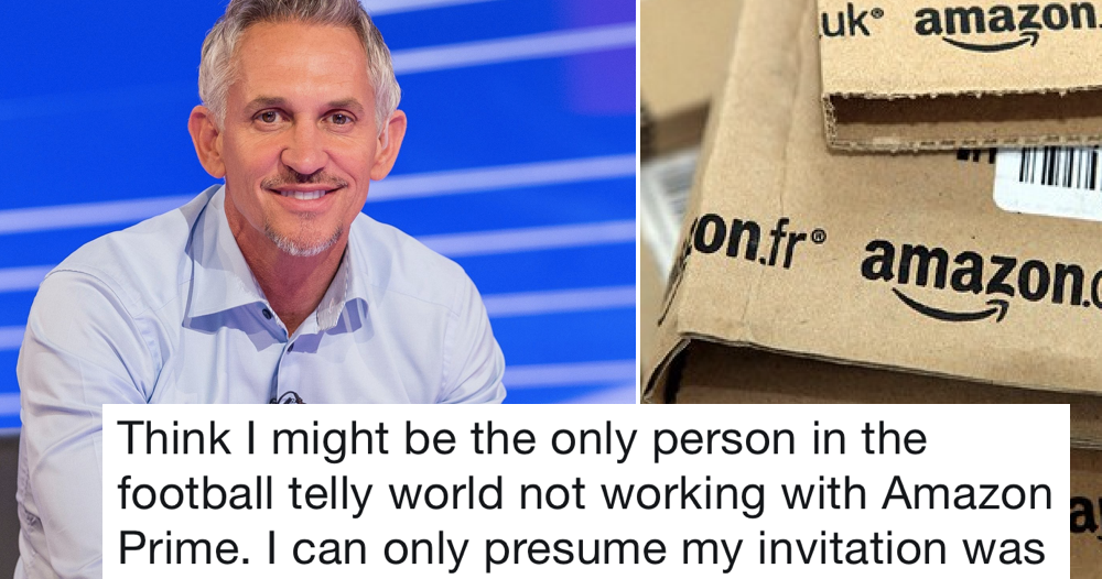 Amazon didn't ask Gary Lineker to present its football and he had the perfect riposte