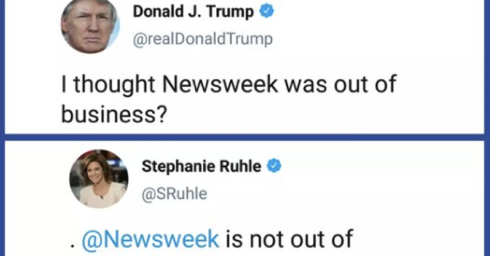 Donald Trump tried to mock Newsweek and it was a rather glorious self-own