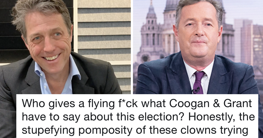 Piers Morgan trolled Steve Coogan for talking politics so Hugh Grant gave him both barrels