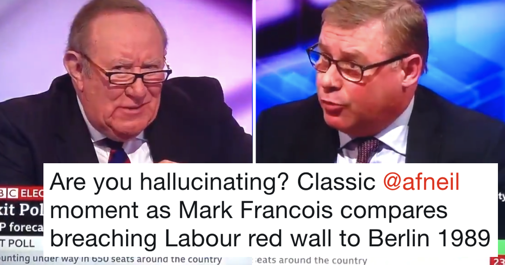 Andrew Neil asking Mark Francois if he's hallucinating was peak Andrew Neil