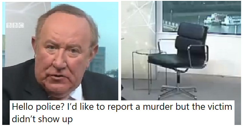 Andrew Neil called out Boris Johnson for failing to be interviewed – the only 5 reactions you need