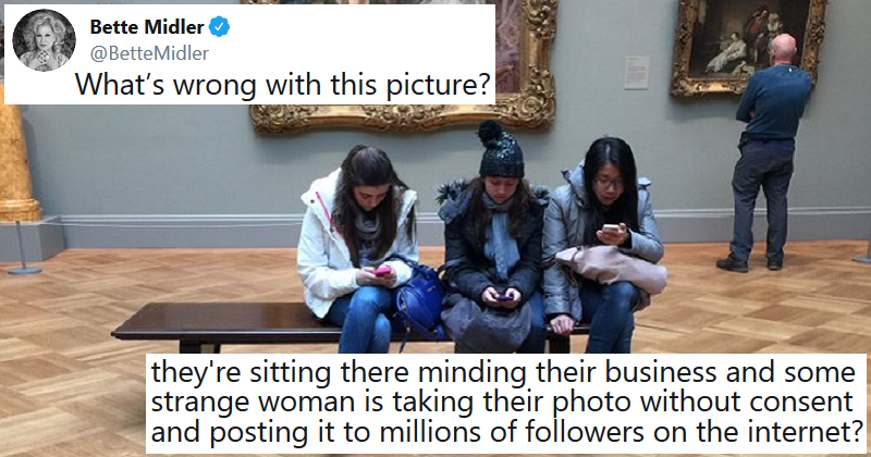 Our 9 favourite reactions to Bette Midler's question about an art gallery photo
