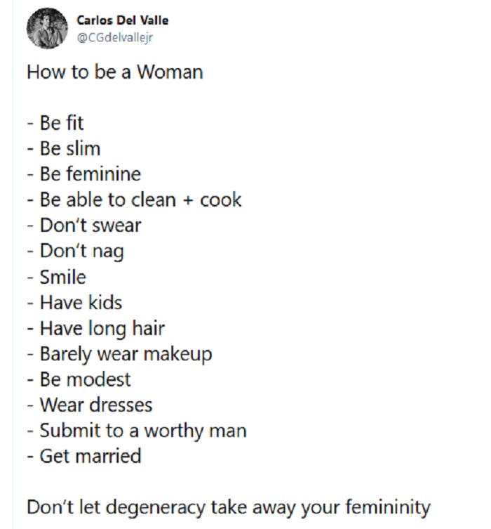 "A misogynist's ""How to be a woman"" instructions went down as well as you'd expect – the 8 hottest burns"