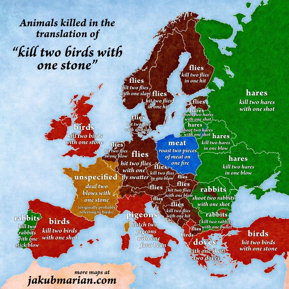 All the European variations on 'killing two birds with one stone' wins our map of the day