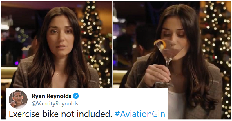 Ryan Reynolds' Aviation gin ad uses the Peloton ad woman in a bit of marketing genius