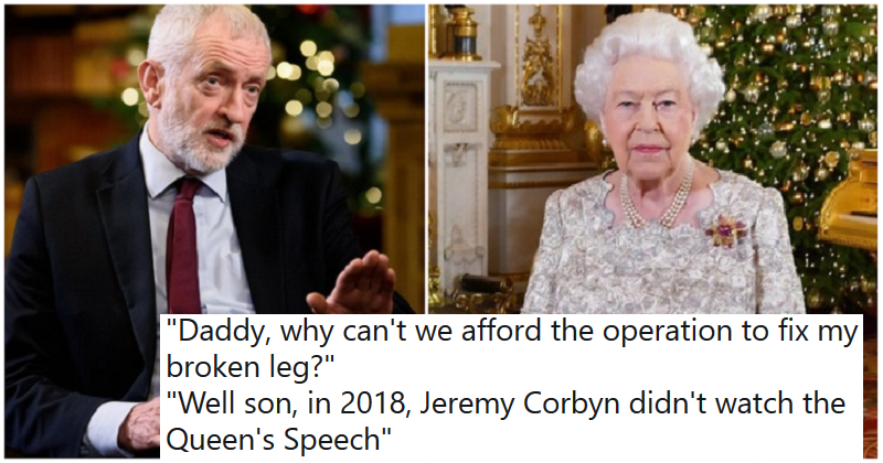 Our 11 favourite reactions to Jeremy Corbyn not watching the Queen's Christmas speech