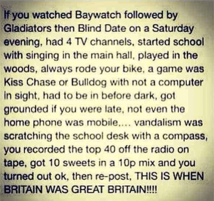 This nostalgic 'Great Britain' post prompted some brilliant detective work to pinpoint the exact day it's talking about