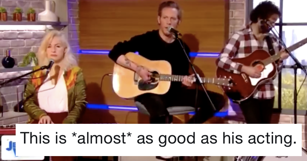 People aren't being entirely kind about Laurence Fox's singing on the Jeremy Vine Show - the poke