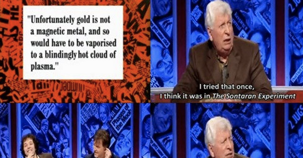 Tom Baker was one of our favourite HIGNFY guest hosts and here's why - the poke