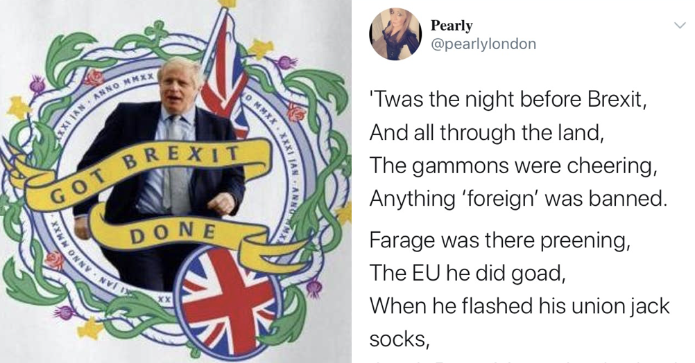 It's Brexit Eve so here are 7 favourite tweets marking the day before the UK leaves the European Union
