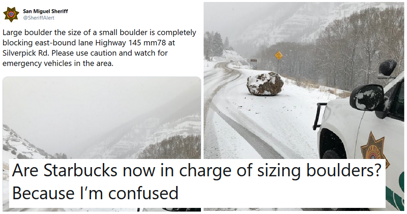 A traffic alert caused a Twitter landslide over the description of a boulder – the 19 funniest comments