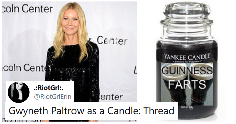 Gwyneth Paltrow as candles – with names Yankee would never sanction (NSFW)