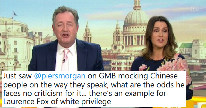 John Barnes called out Piers Morgan over his racist Chinese impression