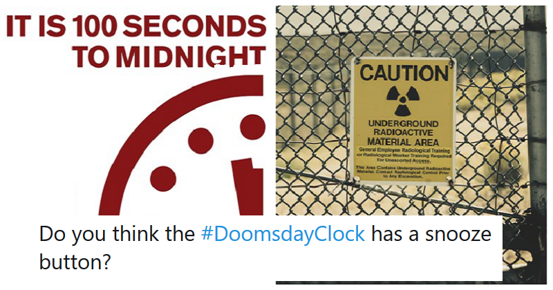 An unlucky 13 reactions to the Doomsday Clock's terrifying new time - the poke