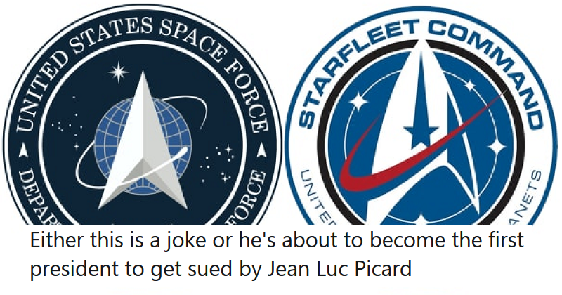 Trump's Space Force emblem reached the final frontier of design  – the only 5 reactions you need to see - the poke