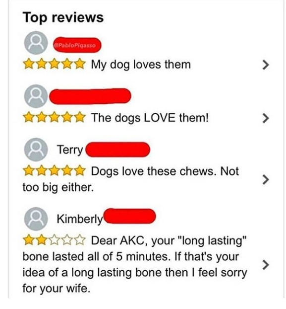 Favourite 2-star review of the week