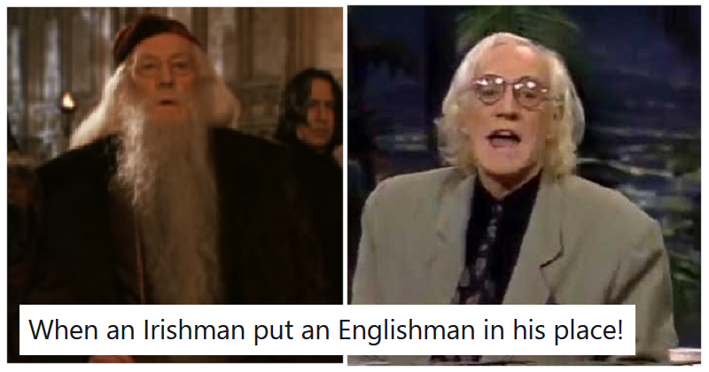 Richard Harris's story of his revenge on an anti-Irish actor is a comic delight