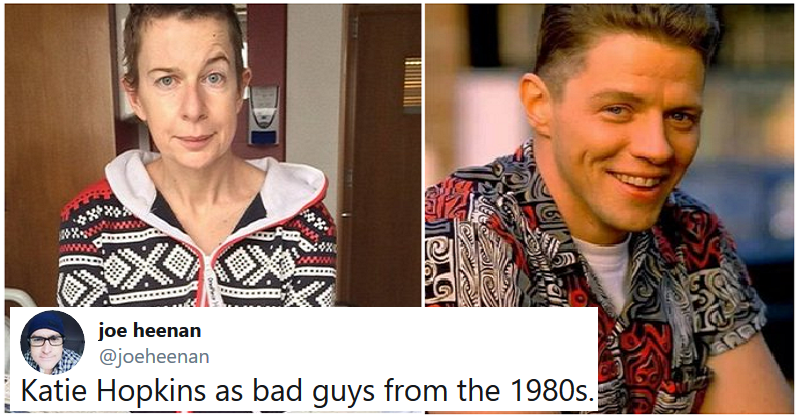 Katie Hopkins as 80s bad guys works every bit as well as you'd expect