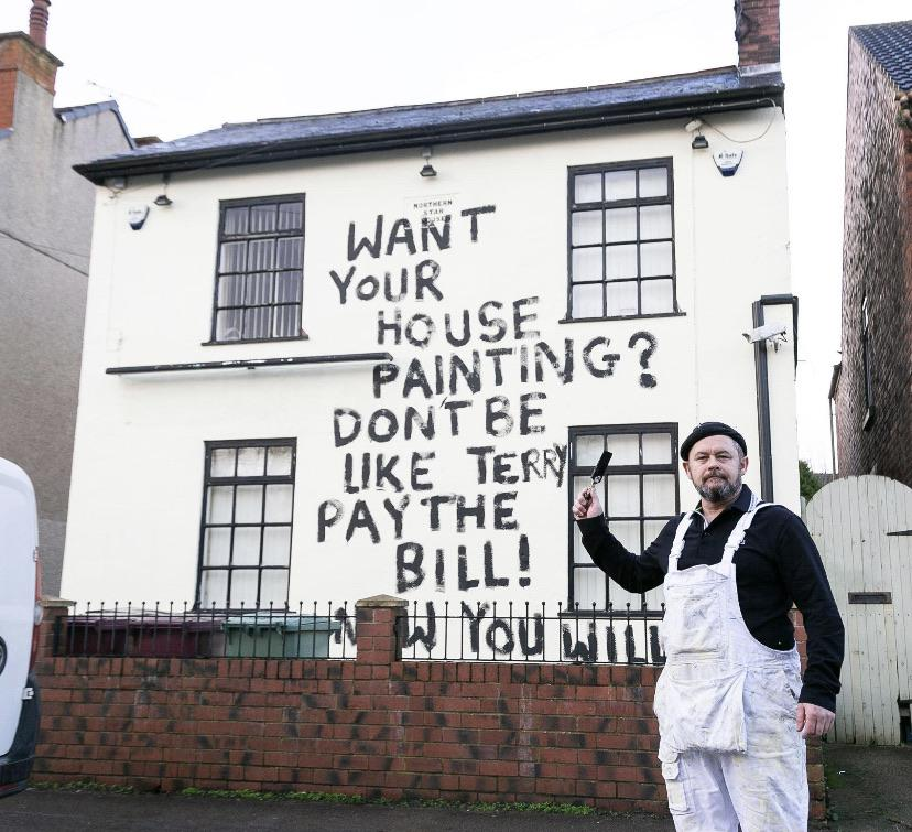 This painter wreaked brilliant revenge on a customer who he claims didn't pay his £500 bill