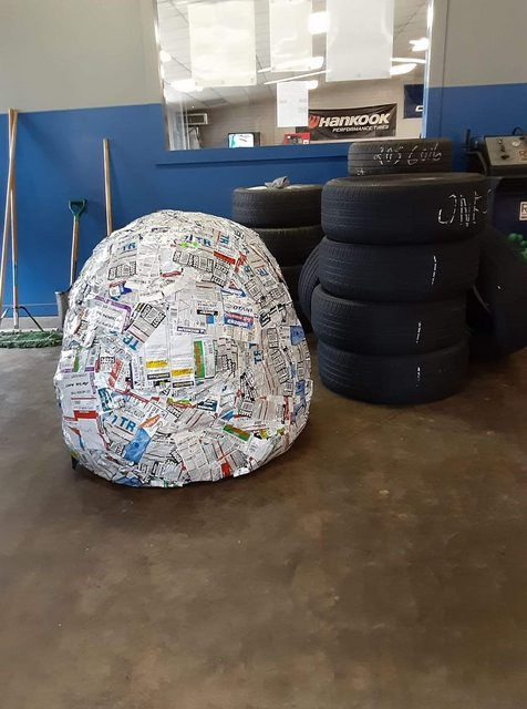 'Our tyre sticker ball turned 6 today'