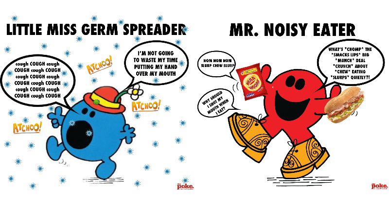 If Mr Men and Little Miss characters were utter ar*eholes