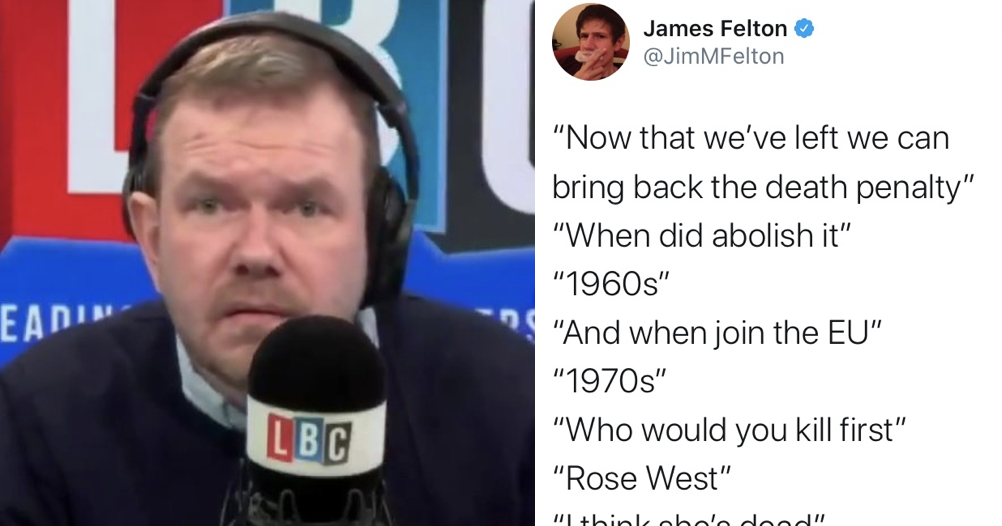 Phone-in caller who wants to bring back hanging destroys himself with his own words and it's brilliant
