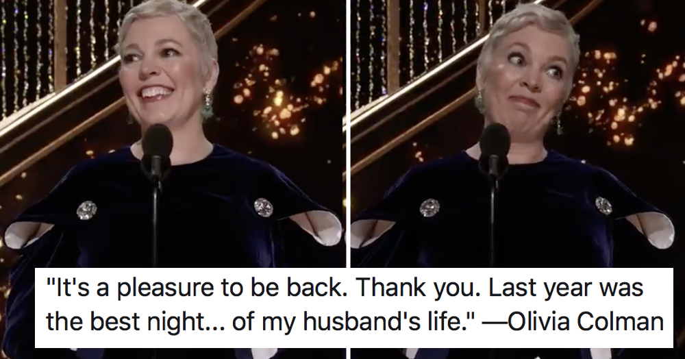 Olivia Colman won the Oscars with the funniest speech of the night