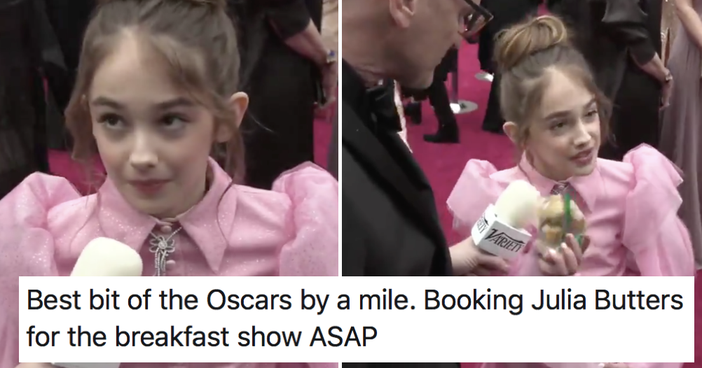 Child actress Julia Butters was asked what's in her bag and it's Greg James' favourite Oscars moment