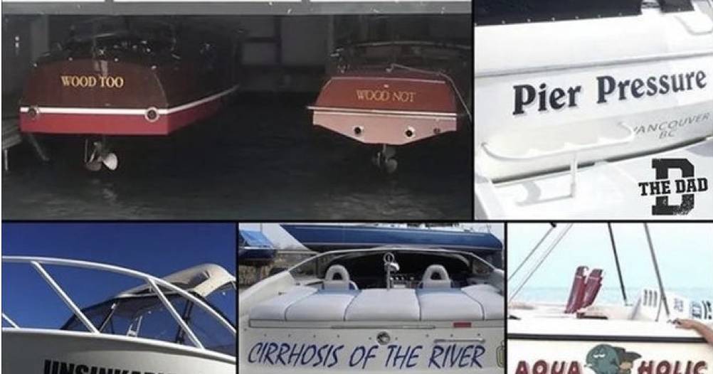 'Dads naming boats might be my favourite thing ever' - the poke