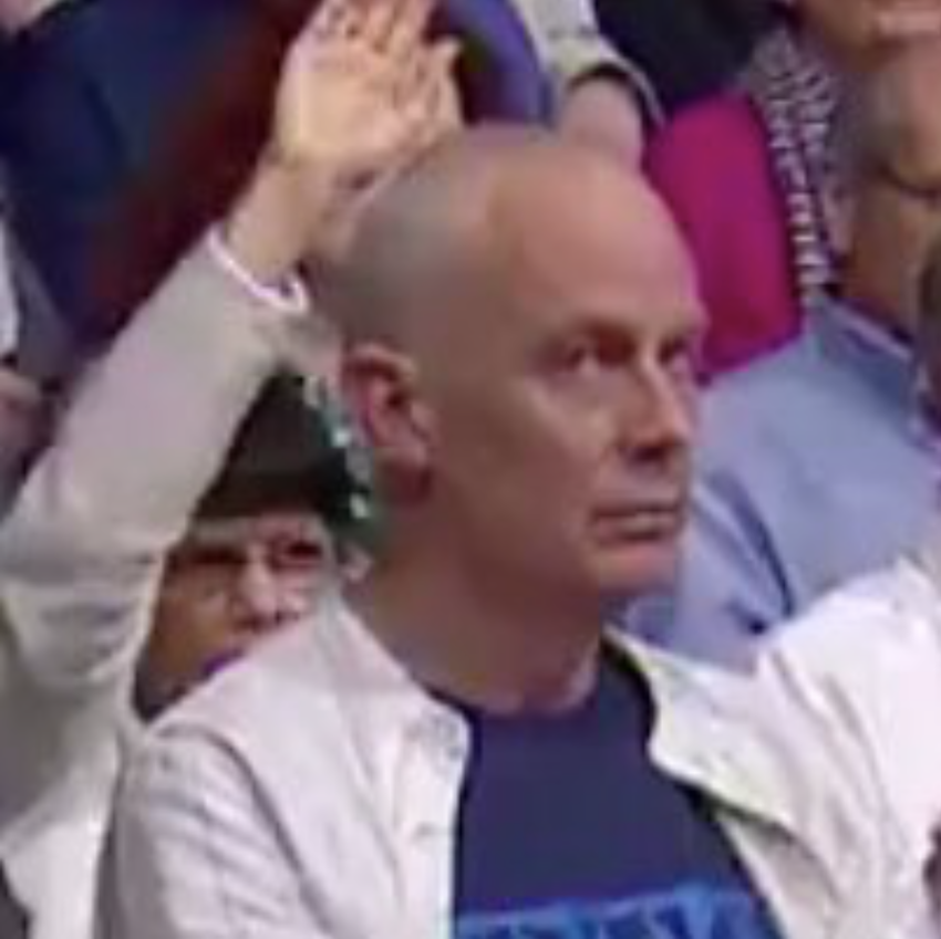 The look on the guy's face next to the ranting Question Time woman was just perfect