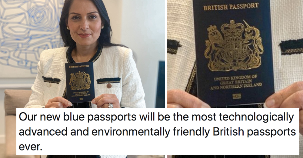 Favourite 5 things people said about our 'technologically advanced' new blue passports