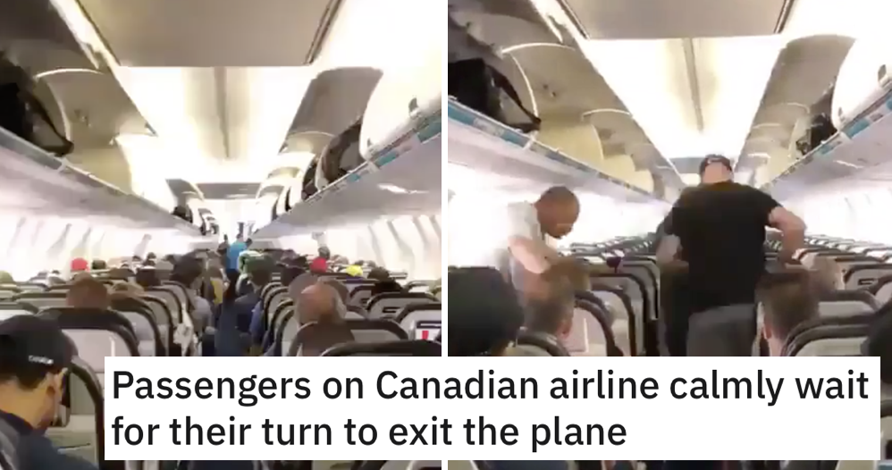 'How Canadians get off planes' is a salutary lesson for us all - the poke