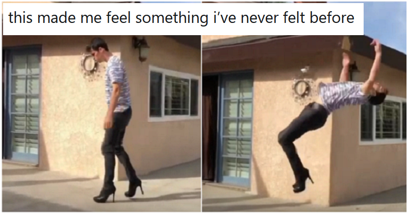We can't stop hate-watching this backflip in high  heels - the poke