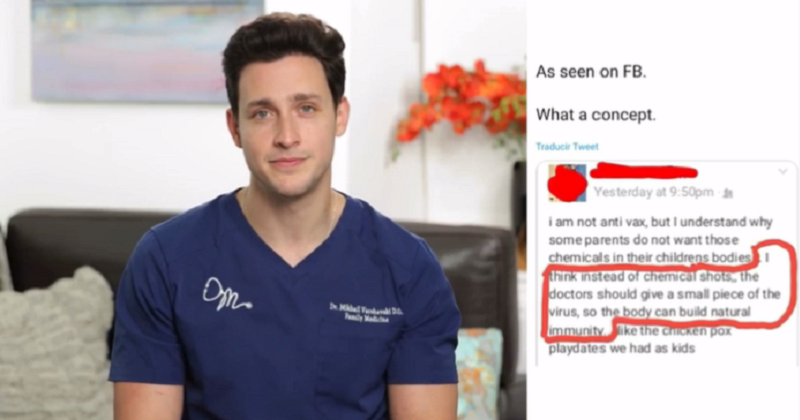 Watch a doctor react to an anti-vaxxer's ingenious alternative to vaccines