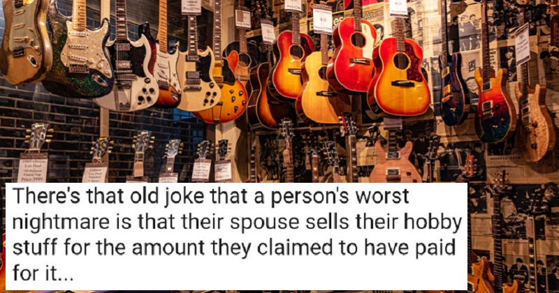 This music shop understands what marriage is like for guitar junkies