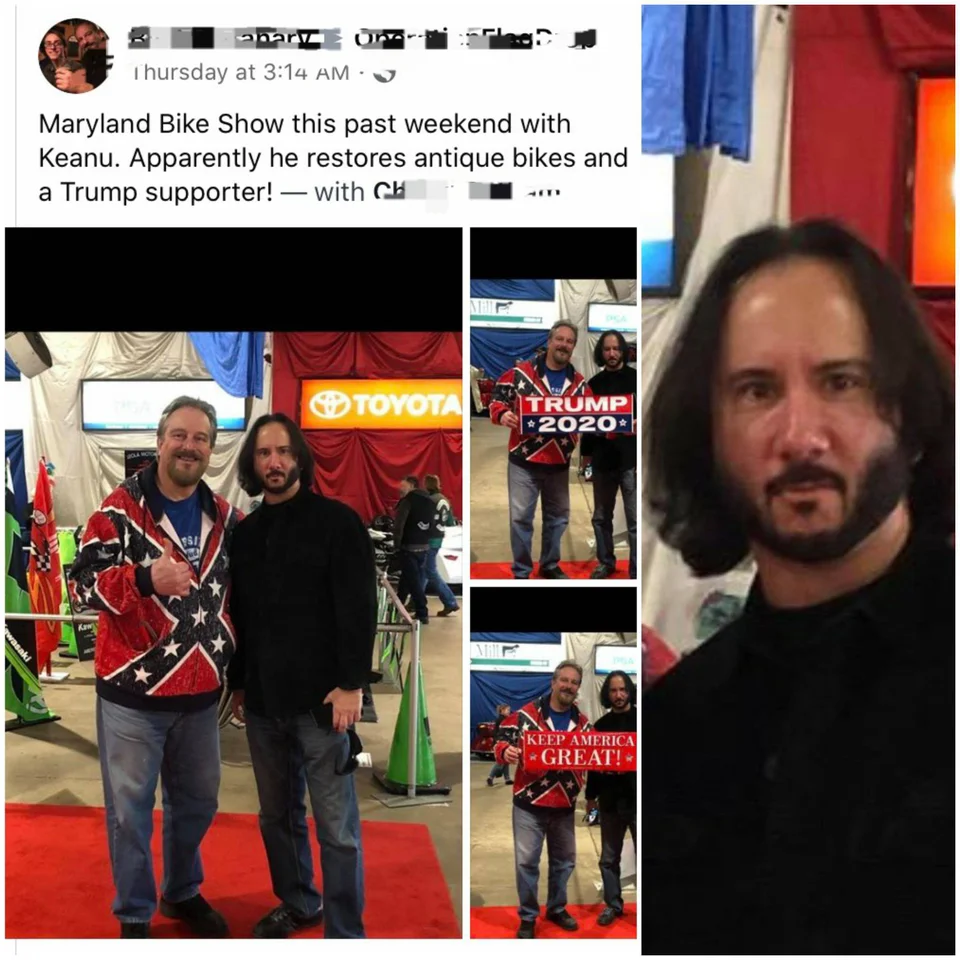 People are laughing at the Trump fan who was fooled by this bogus Keanu
