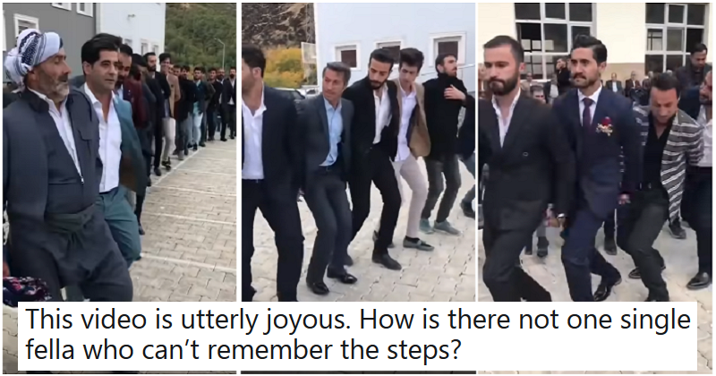 People can't stop watching this utterly joyous Kurdish wedding dance - the poke