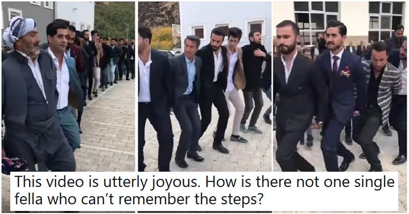 People can't stop watching this utterly joyous Kurdish wedding dance